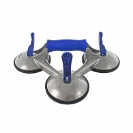 Вендуза тройна за стъкло BOHLE Veribor blue line 100кг, ф120мм, алуминий
