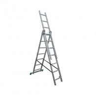 Алуминиевa стълба ELKOP VHR T 3х7, 1952/2992/4032мм(на стълбата), трираменна, професионална, 150кг.