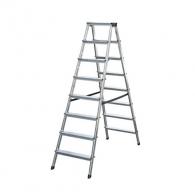 Алуминиевa стълба KRAUSE Dopplo 2х8, 1500мм(на стълбата), двустранна, за домашна употреба, 150г.