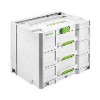 Куфар за инструменти FESTOOL SYS 4 TL-SORT/3, пластмаса, бял