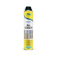 Полиуретанова пяна TKK Tekapur All Season, 800мл, пистолетна, всесезонна (от -10 до +35°C)
