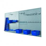 Стена за инструменти ERBA 34части, 558х458х8мм, перфорирана