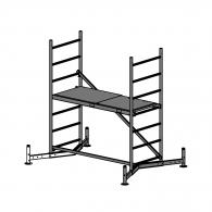 Скеле алуминиево KRAUSE ClimTec H=3.0м, базов модул, 1500x600мм, 180кг/кв.м, без колела