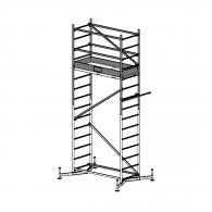 Скеле алуминиево KRAUSE ClimTec H=2.0м, междинен модул, 1500x600мм, 180кг/кв.м, без колела