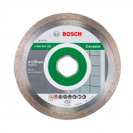 Диск диамантен BOSCH FPE ECO 125х1.6x22.23мм, за керамика, за сухо и мокро рязане