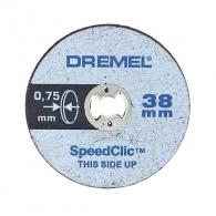 Диск карбофлексов DREMEL EZ SpeedClic 38х0.75мм, за рязане на метал, 5бр в кутия