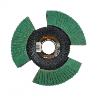 Диск ламелен RHODIUS VISION 125x22.23 P60, за шлайфане на метал и неръждаема стомана