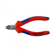 Клещи резачки KNIPEX ф0.4-3.0/125мм - мини, VS, двукомпонентна дръжка