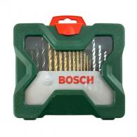 Комплект накрайници и свредла BOSCH X-lineTitanium 30части, PH, PZ, SB, TX, с магнитен държач, свредла