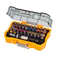 Комплект накрайници DEWALT 32части, PH, PZ, SB, TX, шестостен с магнитен държач