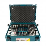 Комплект накрайници и свредла MAKITA 100части, PH, PZ, SB, TX, шестостен, SW, с магнитен държач, свредла