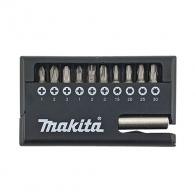 Комплект накрайници MAKITA 11части, PH, PZ, TX с магнитен държач