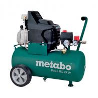 Компресор METABO BASIC 250-24 W, 24l, 8bar, 200 l/min, 1.5kW, 2.0hp, 230V
