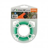 Корда STIHL 2.0мм/15.3м, кръгла, безшумна, дължина 15.3м, зелена