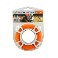 Корда STIHL 2.4мм/14.6м, кръгла, безшумна, дължина 14.6м, оранжева