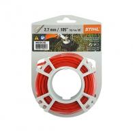 Корда STIHL 2.7мм/9.8м, кръгла, безшумна, дължина 9.8м, червена
