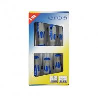 Отвертки комплект ERBA 6части, PH, SB, двукомпонентна дръжка