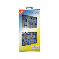 Отвертки комплект ERBA 6части, ТХ, двукомпонентна дръжка