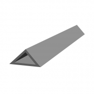 Профил за скосен ъгъл NEVOGA DREIKANTLEISTE 25, 2.5м, 25х25х35мм, в опаковка 100м