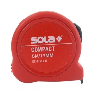 Ролетка SOLA COMPACT 5m x 19mm, пласмасов корпус, EG-клас 2