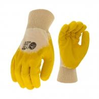 Ръкавици SAFETECH TWITE ECO, противосрезни от памучно трико, топени в латекс, ластичен маншет