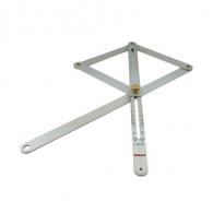 Ъгломер SOLA VK 380 170х380мм, сгъваем, с фиксираща гайка, 0-180°, алуминий