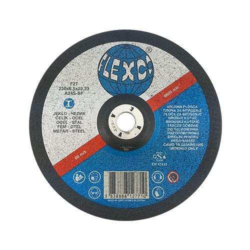 Диск карбофлексов SWATYCOMET FLEXCO 230х6.5х22.23мм, за шлайфане на метал