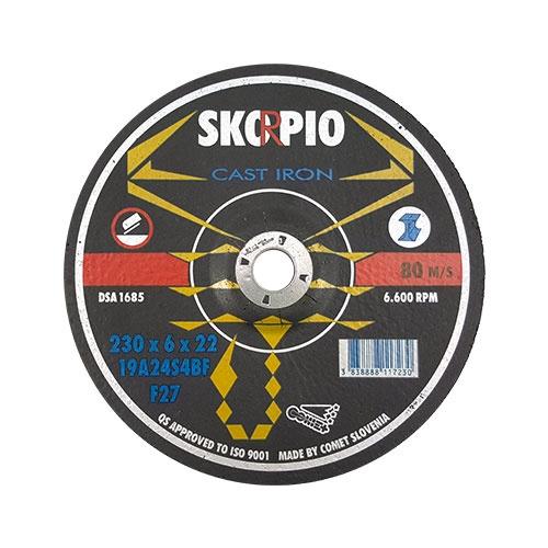 Диск карбофлексов SWATYCOMET SCORPIO 230х6.0х22.23мм, за шлайфане на алуминий и чугун