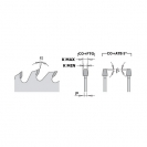 Диск подрезвач с твърдосплавни пластини CMT 120/3.1-4.0/20 Z=24, за рязане на единична или двустранни ламинирани плоскости - small, 86791