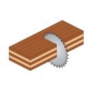 Диск с твърдосплавни пластини CMT 190/2.6/20 Z=24, за рязане на мека и твърда дървесина, шперплат - small, 87610