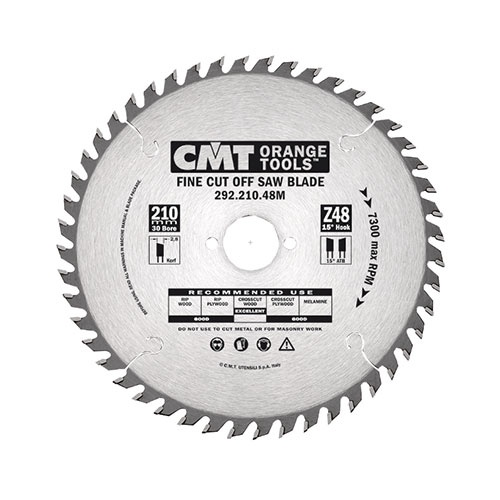 Диск с твърдосплавни пластини CMT 216/2.8/30 Z=64, за рязане на меки, твърди и екзотична дървесина, дървесни плоскости