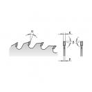 Диск с твърдосплавни пластини CMT 250/3.2/30 Z=80, за рязане на единични или двойни едностранно ламинирани плоскости - small, 86745