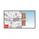 Дюбел универсален KEW UKD 5x32мм, с периферия, 1000бр. в кутия - small, 138203