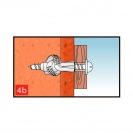 Дюбел универсален KEW UKD 5x32мм, с периферия, 1000бр. в кутия - small, 138204