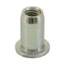 Нит гайка BRALO М4/L=9.5мм, стоманена с плоска периферия, 500бр. в кутия - small, 116882
