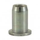 Нит гайка BRALO М4/L=9.5мм, стоманена с плоска периферия, 500бр. в кутия - small, 116883