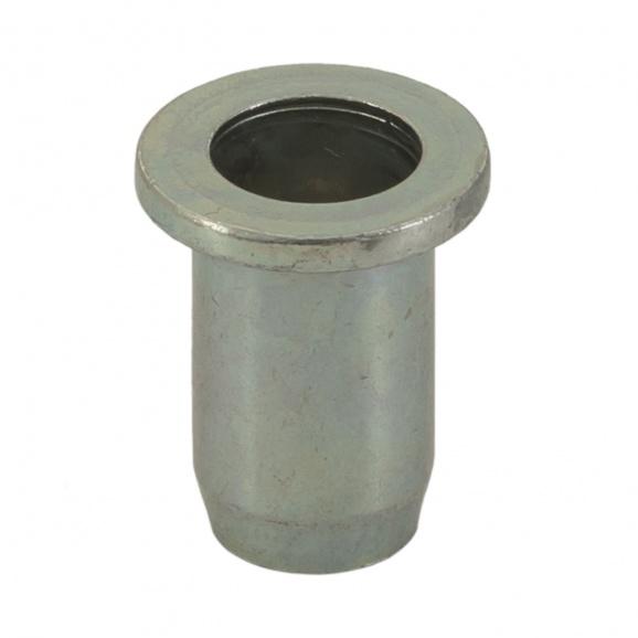 Нит гайка BRALO М4/L=9.5мм, стоманена с плоска периферия, 500бр. в кутия
