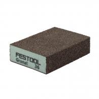 Абразивна гъба FESTOOL GR 98х69х26мм P36, четиристранна, за метал, дърво, пластмаси и боядисани изделия