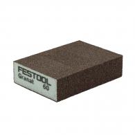Абразивна гъба FESTOOL GR 98х69х26мм P60, четиристранна, за метал, дърво, пластмаси и боядисани изделия