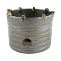Боркорона с твърдосплавни пластини ABRABORO 80х75/55мм, за бетон и зидария, олекотена, с вътрешна резба M16, сухо пробиване