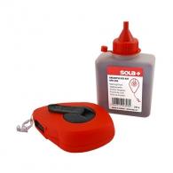 Чертилка зидарска SOLA CLK 30м, пластмасова, к-т със червена боя