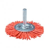 Четка дискова MAKITA ф100x6мм P80, за бормашина, плоска, найлонова, с опашка 6мм, грубо, оранжев
