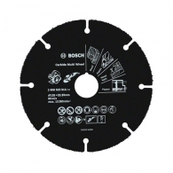 Диск с твърдосплавни пластини BOSCH Carbide Multi Wheel 125х1.0х22.23мм, за дърво, пластмаса и др., сухо рязане, сегментиран