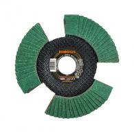 Диск ламелен RHODIUS VISION 125x22.23 P40, за шлайфане на метал и неръждаема стомана