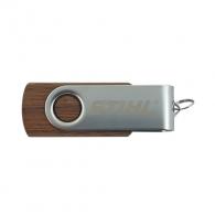 Дървено USB STIHL 16GB, орехова дървесина, версия 2.0
