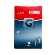 Кламери NOVUS 11/8мм 5000бр., тип 11/G, плоска тел, кутия