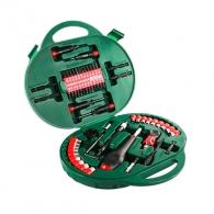 Комплект накрайници и свредла HITACHI 60части, PH, PZ, SB, TX, шестостен, с отвертка, вложки