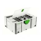 Куфар за инструменти FESTOOL SYS 2 TL-DF, пластмаса, бял - small