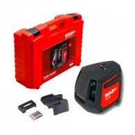 Линеен лазерен нивелир SOLA Qubo Basic 20m, 2 лазерни линии, точност 2mm/10m