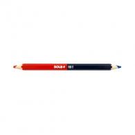 Молив за комбиниран SOLA RBB 17см, червен-син, липово дърво